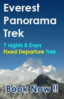 Everest panorama fixed departure trek