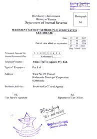 Ministry of Finance Department of Internal Revenue Permanent Account Number (PAN) Registration